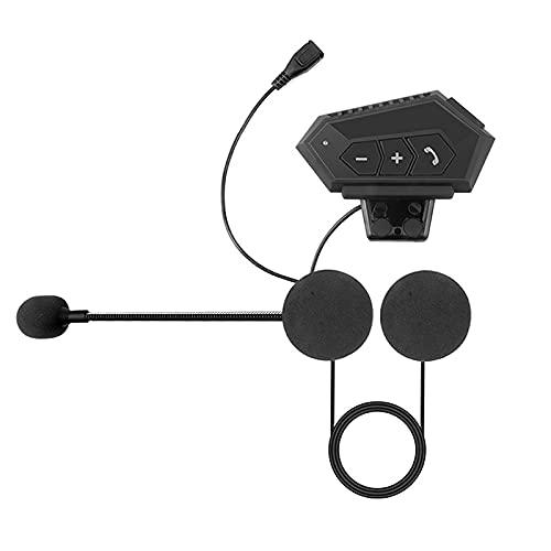 Jiahezi Auriculares inalámbricos de casco Bluetooth para motocicleta, kit de llamadas de teléfono manos libres Estéreo Anti-Interferencia BT Auriculares Bluetooth Auriculares de motocicleta