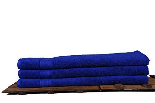 Toalla de baño grande XXL 100 x 180 cm, toalla de baño, toalla de sauna, 100% algodón orgánico turco (azul marino)