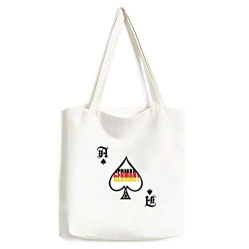 Deutschland Länderflagge Name Handtasche Basteln Poker Spaten waschbare Tasche