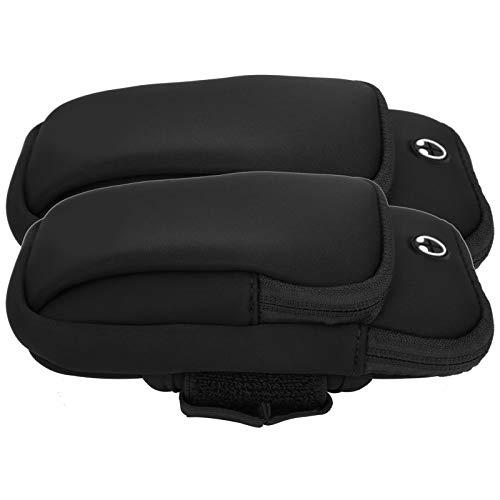 Demeras - Bolsa de brazalete deportivo sin sudor, resistente al sudor, para correr, caminar, senderismo