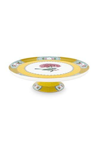 Pip Studio - Tortenplatte - Blushing Birds - Porzellan - gelb - D 21cm