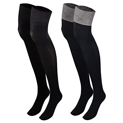 Sockenversandhandel Damen Mädchen Overknee (1 Paar) lange Strümpfe 35-38 schwarz