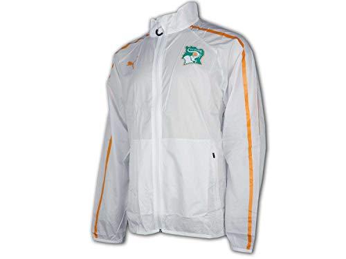 Puma Veste Côte d'Ivoire Homme White/Flame Orange FR : L (Taille Fabricant : L)