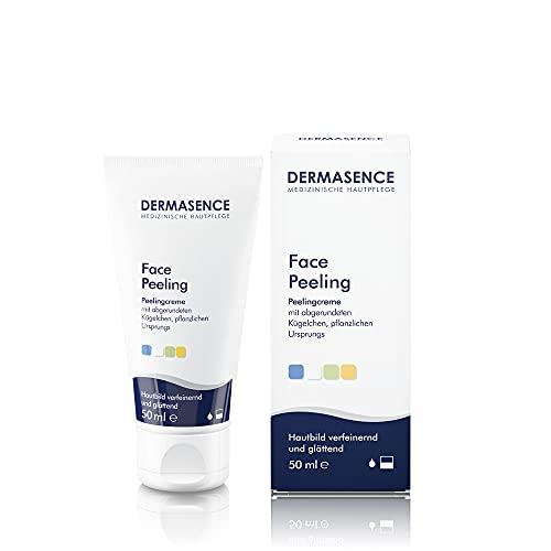 Dermasence Face Peeling - Peeling-Creme mit Mikrokügelchen pflanzlichen Ursprungs, abgerundete Kügelchen pflanzlichen Ursprungs lösen Hautschuppen - 50 ml