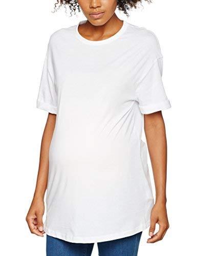 New Look Maternity Boyfriend T-Back, T-Shirt de Maternité Femme, Blanc (White 10), 36