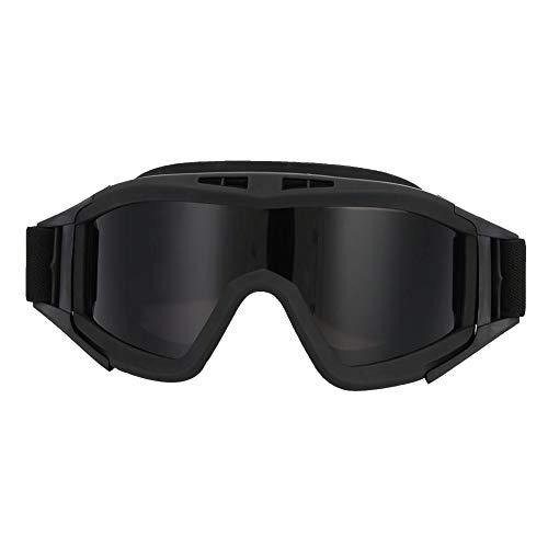 Demeras Taktikbrille Militärische Taktikbrille Schutzbrille UV-400 Augenschutzhelmbrille(Schwarz)