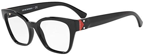 Emporio Armani 0EA3132 Monturas de gafas, Black, 52 para Mujer