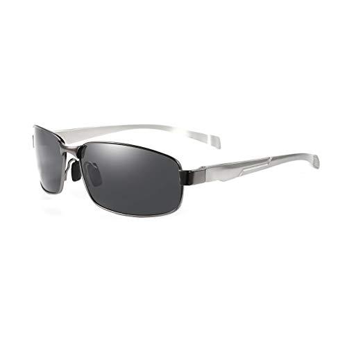 YIYUN Polarisiert Sonnenbrille, Aluminium Magnesium Sonnenbrille Klassisch Persönlichkeit Sonnenbrille Funky Fahrer Fahren Sonnenbrille,C