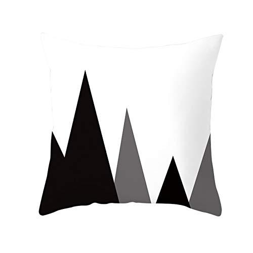 Amody Funda Cojin Cama, Fundas Cojines 40x40cm Triángulo Funda para Cojines de Exterior Style 21