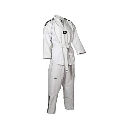 Dobok Adidas Taekwondo Adiclub 3S Gola Branca WT Tamanho:180cm
