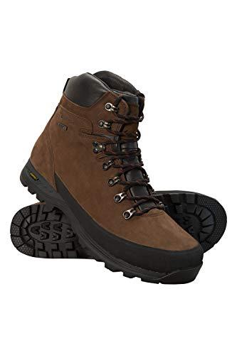 Mountain Warehouse Discovery Extreme Isogrip Stiefel für Herren - Wasserfeste Regenstiefel, schnelltrocknende Wanderschuhe, Allwetter, Nubukleder - Schuhe zum Laufen Braun 45
