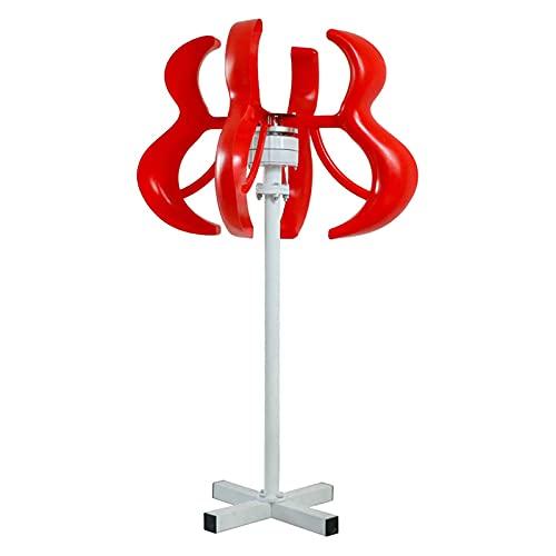 Tqing Linterna del generador de turbinas de Viento de Axi Vertical 6000W + 12V / 24V / 48V Kit de Motor electromagnético para Camping Home Streetlight Uso,12v
