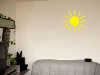 Wandtattoo / Wandaufkleber grosse Sonne; Farbe Gelb