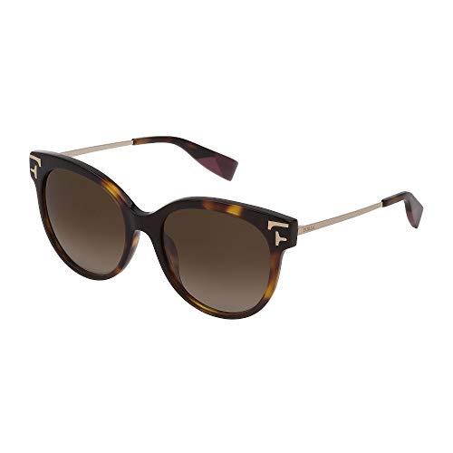 FURLA Sonnenbrille SFU341 0790 54-18-140 Damen Havanna dunkel glänzend Gläser braun Gradient braun