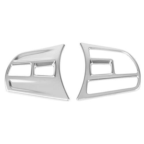 Outbit Lenkradverkleidung - 1 Paar mattverchromte Innenverkleidung für Lenkrad-Tastenabdeckung für 3er-Reihe/GT F30 F34 2013-2018.