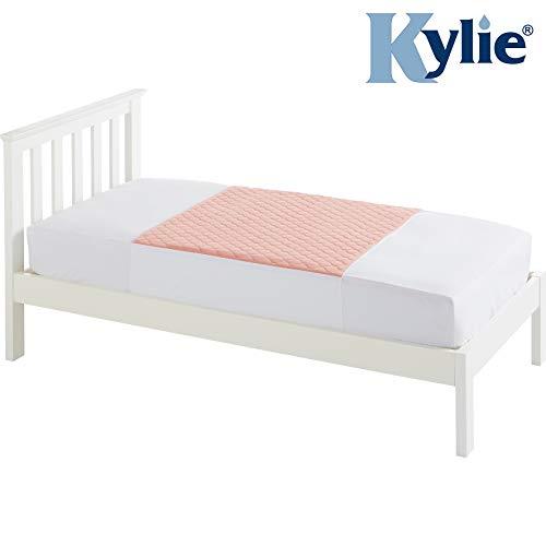 Kylie Bedpads met vleugels, 4 liter absorptievermogen, 1270 × 910 mm, roze, adsorptiebed padding, waterdicht, verwijdering van gazon & infecties, toilethulp, dag & nacht padding