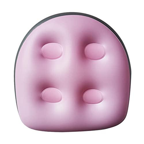 Cojín de masaje de relajación con ventosas, cojín de masaje hinchable para bañera, cojín de masaje de espalda suave para adultos y niños, recuperación de spa (rosa)