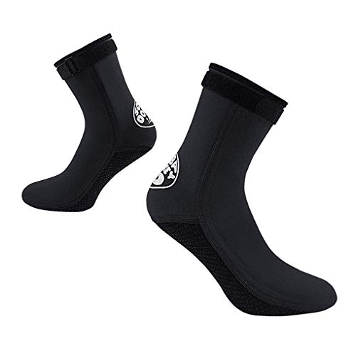 FakeFace Neoprensocken 3mm Thermo Tauchsocken Strandsocken Beachsocken Damen Herren Wasserdicht Neopren-Socken Schwimmen Socken Tauch Füßlinge für alle Wassersport