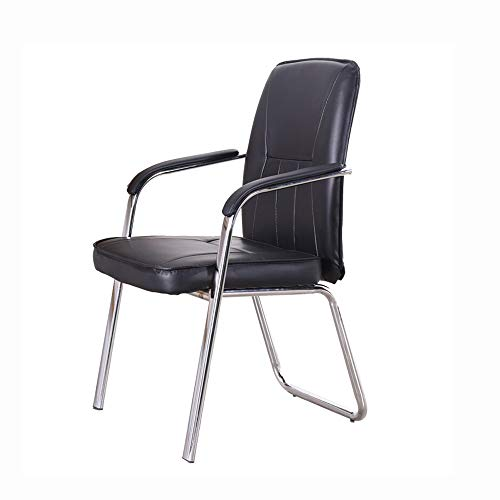 DALIBAI Leather Work Chair with Arms, Ergonomic Computer Office Chair, Black