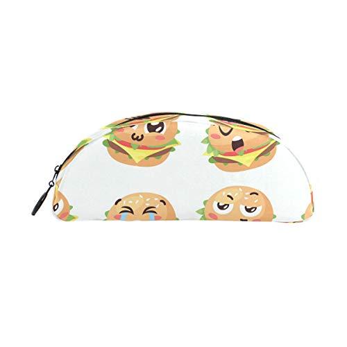 Niedliches Cartoon-Hamburger Stifteetui für die Schule, für Kinder, große Kapazität, Make-up, Kosmetik, Box, Büro, Reisetasche