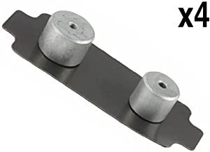 for Porsche (99-10) Brake Pad Damper Front (x4) OEM