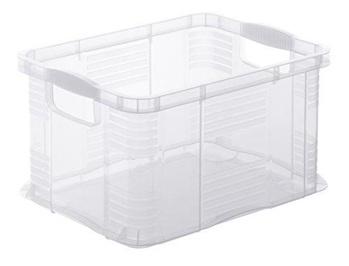 Rotho Agilo Aufbewahrungsbox 17.5 l, Kunststoff (PP), transparent, 17.5 Liter / A4  (39 x 29 x 21,5 cm)