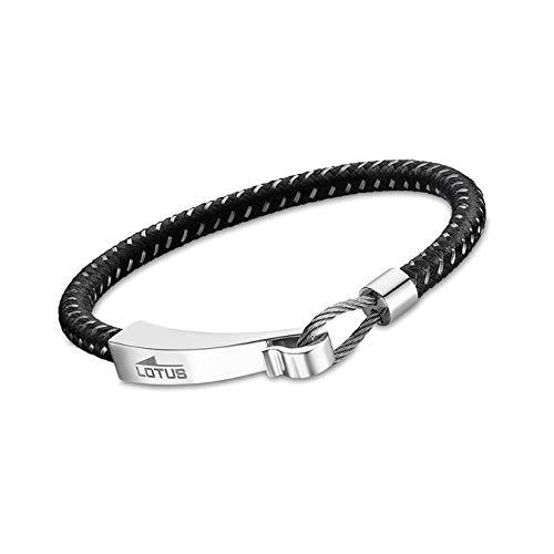 Lotus Style pulsera de plástico acero inoxidable LS1977-2/1 negro para hombre D3JLS1977-2-1