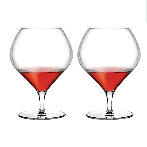 YUN&DSC Brandy bicchieri da vino rosso vino bianco bordeaux - bordeaux - champagne elegante confezione regalo senza piombo confezione da 2 (colore: trasparente, dimensioni: bordeaux 860ml)