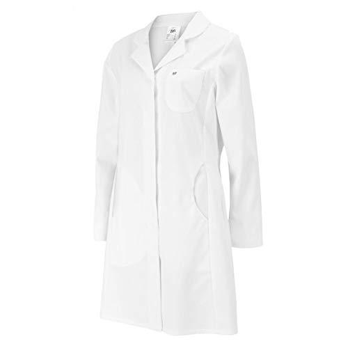 BP 4857-684-21-40 Mantel für Frauen, Langarm, Kragen mit Aufschlag, 200,00 g/m² Stoffmischung mit Stretch, weiß ,40