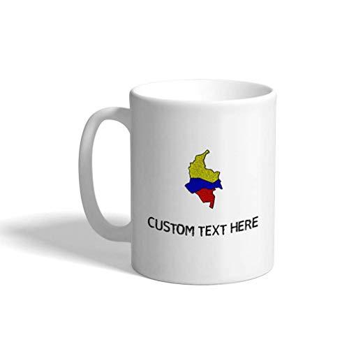 Aangepaste koffiemok 11 Oz Colombia Vlag Kaart Landen Keramische Theekop Gepersonaliseerde Thee of Koffie Mok