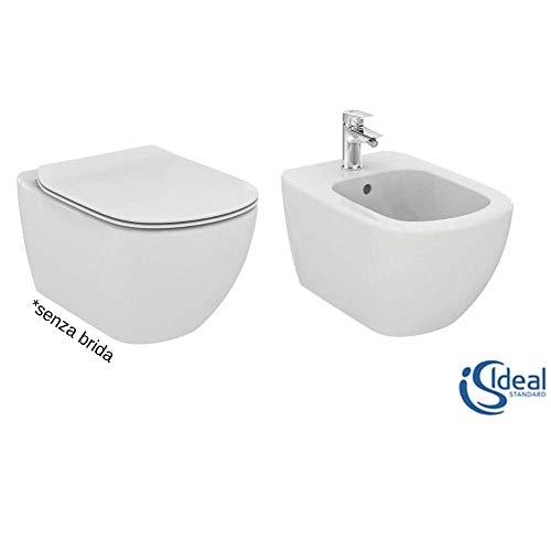 Ideal Standard Tesi Paar Sanitärhalter mit Sitz inklusive, Weiß, Einheitsgröße