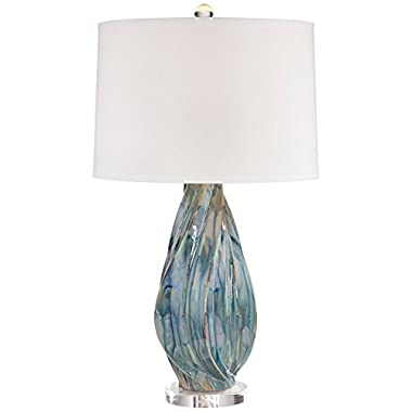 Teresa Teal Drip Ceramic Table Lamp