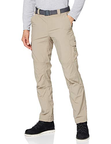 Columbia Silver Ridge II Pantalones Cargo, Hombre, Beige (Tusk), W30/L32