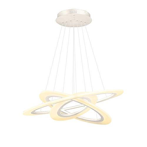 Creative Techo Droplight LED LED Araña Arte Moderno Deco Ajustable Colgante Luz Contemporánea Colgante Lámpara Altura 100 cm x 3 Anillos (80 cm + 60 cm + 40 cm) [Clase de energía A +]