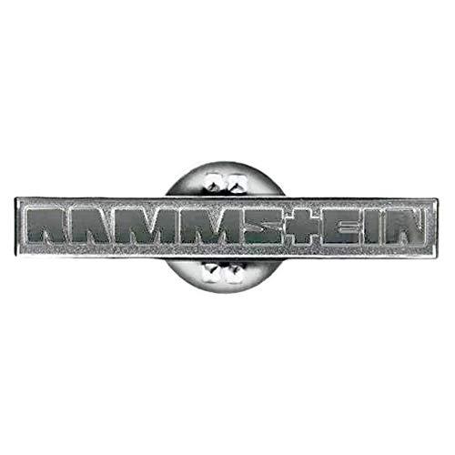 Rammstein Anstecker Pin metallic, Offizielles Band Merchandise Fan