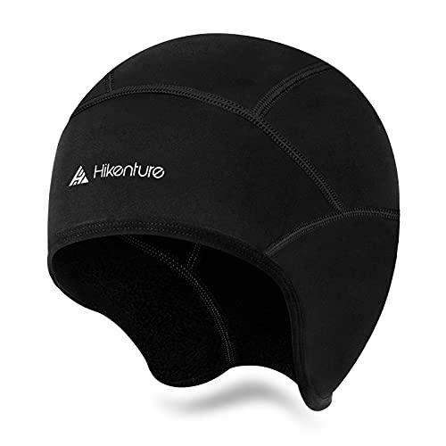 HIKENTURE Zimowa czapka rowerowa, ciepła i wiatroszczelna, wygodna czapka pod kask rowerowy, narciarski, rower wyścigowy MTB, lekka czapka rowerowa z otworem na okulary
