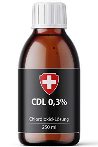 Active Swiss CDL - Chlordioxid Lösung 0,3{2fba8512c9cd98ac315ef71548690cc7da4995daad959411349233434449511a} | 250 ml Chlorine Dioxide Solution in Braunglasflasche zur Trinkwasserdesinfektion | CDL/CDs Made in Germany und Zertifiziert nach der Biozid-Verordnung