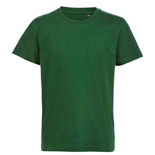 SOLS - Camiseta orgánica de Manga Corta Milo para niños niñas (5-6 Años) (Verde Botella)