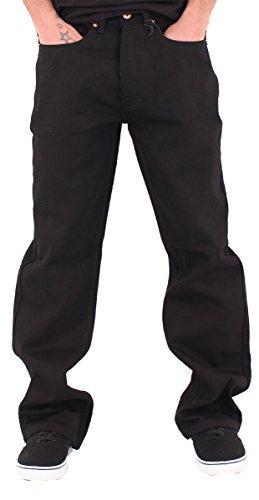 Rocawear Mens Boys Black Double R Star Loose Fit Jeans (W48 - L34, Black)