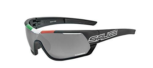 Salice 016ITACRX - Gafas de Ciclismo, Color Negro, Talla ún