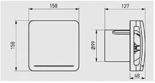 S & p ecoair lc - Extractor para bano ecoair slc