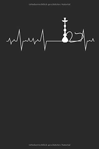 Herzschlag Herzlinie Herzfrequenz Shisha: Notizbuch DIN A5 I Liniert I 120 Seiten I Geschenk Hobby Schischa Wasserpfeife Rauchen Rauchgerät Kaffee Bar Chill-Out Orientalisch