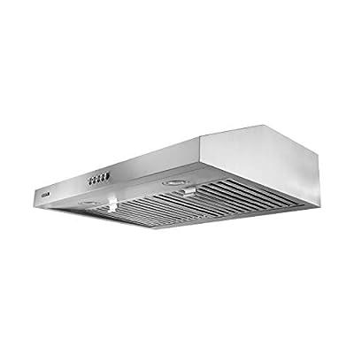 VESTA 30 Inch Range Hood - Stainless Steel Under Cabinet 700 CFM 3 Installation Way Hard Wire