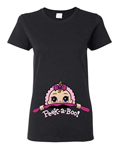 Baby Girl Peek A Boo Cute Ladies (Not Maternity) T-Shirt Tee