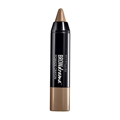 Maybelline Brow Drama Pomade Crayon in Dark Blond, Augenbrauenstift, zum Formen und Betonen von Augenbrauen, mit cremiger Textur, hoch pigmentiert, einfache Anwendung, 1,1 g