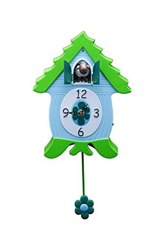 Xanadoo - Reloj de cuco, reloj de pared, reloj - EweCoo - oveja
