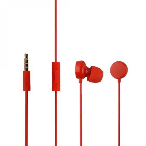 Nokia WH-208 - Auricolari in-ear originali per Lumia 820, 3,5 mm, colore: Rosso