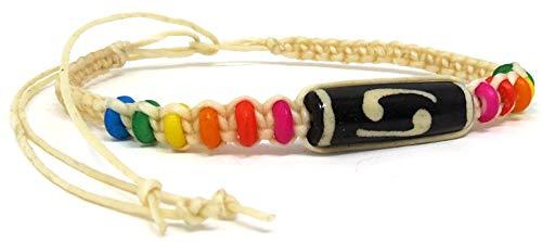 Exotic & Trendy Jewelry, Books and More Friendship Bracelet for Men Rainbow Bracelet Rainbow Pride Bracelet Handmade LGBTQ Lesbian Gay Bi Trans Awareness (Sand Color Cord - Rainbow Beads)