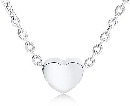Ansané | Neu - Filigrane Damen Herzkette - in Rosegold, Silber oder Gold | mit Geschenkbox | 45cm + 5cm (extra) | Heart Necklace