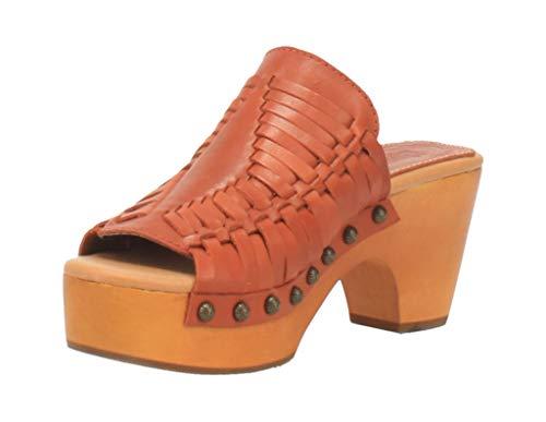 Dingo Western Shoes Womens Dreamweaver Leather Clog 9 M Rust DI349